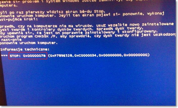 Синий экран с ошибкой 0x0000007B при установке Windows XP